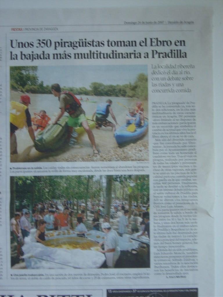 La Pradillada contribuye al fomento del uso recreativo del Ebro gracias a su repercusión mediática.