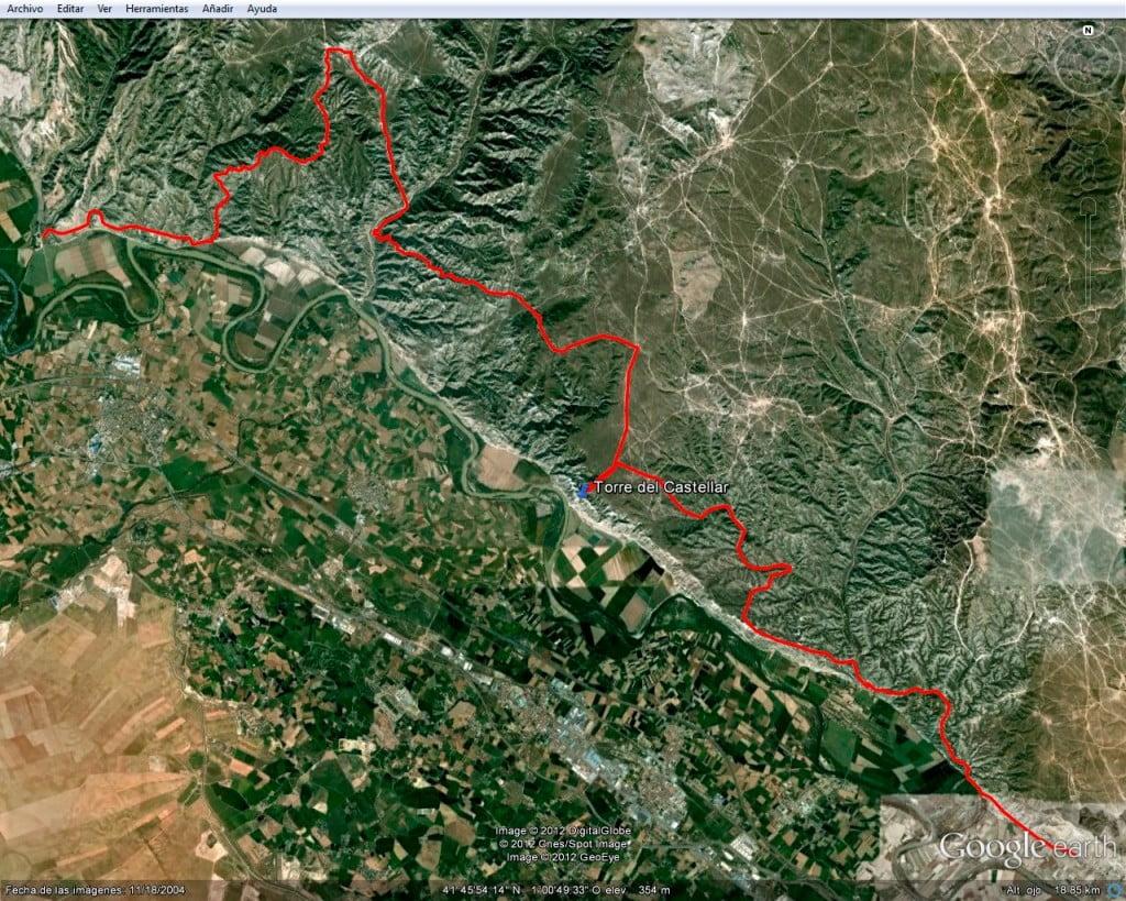 Posible ruta cicloturista por los montes de El Castellar y los Escarpes del Ebro