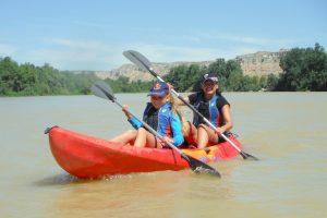 Piragua en familia por el Ebro