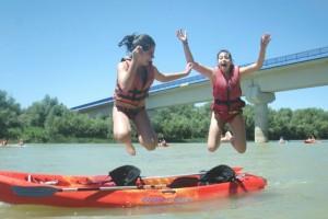 Actividad con escolares en el río ebro