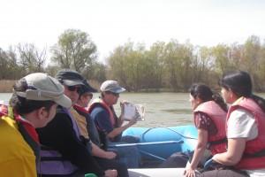 Observación y explicaciones ornitológicas a bordo de una de nuestras balsas neumáticas