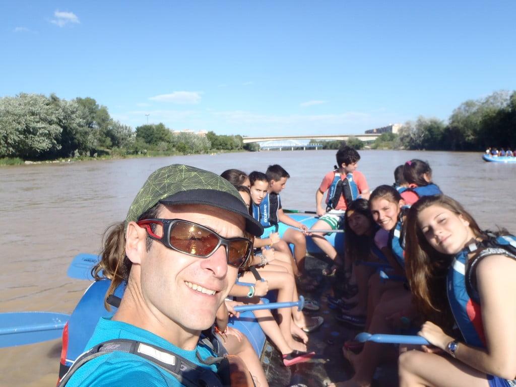 Selfie barquero del Ebro