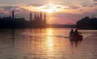 Atardeceres fluviales en Zaragoza